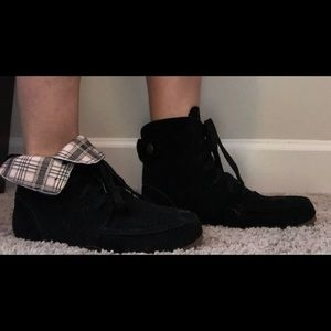 Flat ankle boots , black size 8. Brand new.